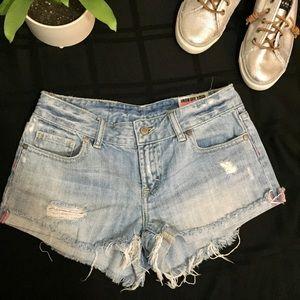 Victoria's Secret PINK Denim Cutoff Shorts Sz 0 25